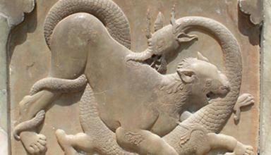 شیر و اژدها(کاخ گلستان)